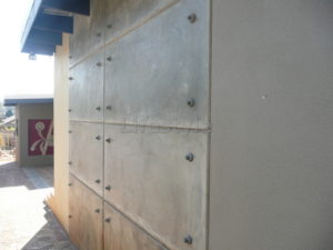 Concrete blocks with bolts