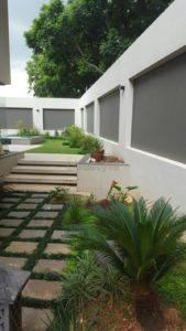 recessed boundary wall