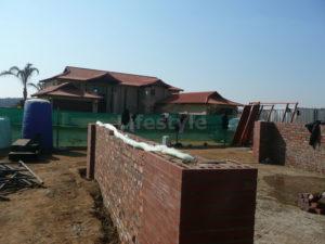 Insulation between brickwork