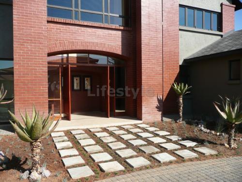 Front door/ paving blocks